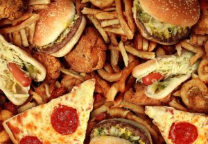 Junk and fried foods, examples of trans fat foods.
